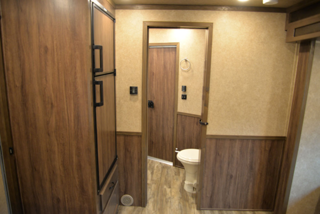 Living Quarters in a LE8X11FK Charger Edition Livestock Trailer | Lakota Trailers