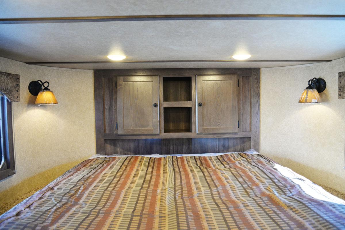 Bedroom in Charger C8X15RK   Lakota Trailers
