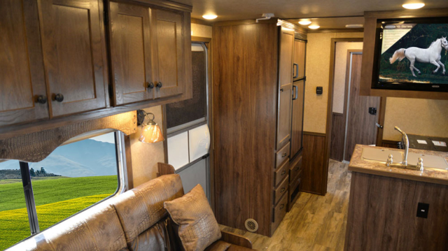 Living Quarters in C8X15RK Charger Edition Horse Trailer | Lakota Trailers