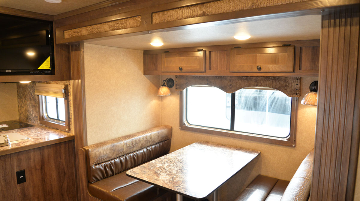 Dinette in Charger C8X15RK Horse Trailer | Lakota Trailers