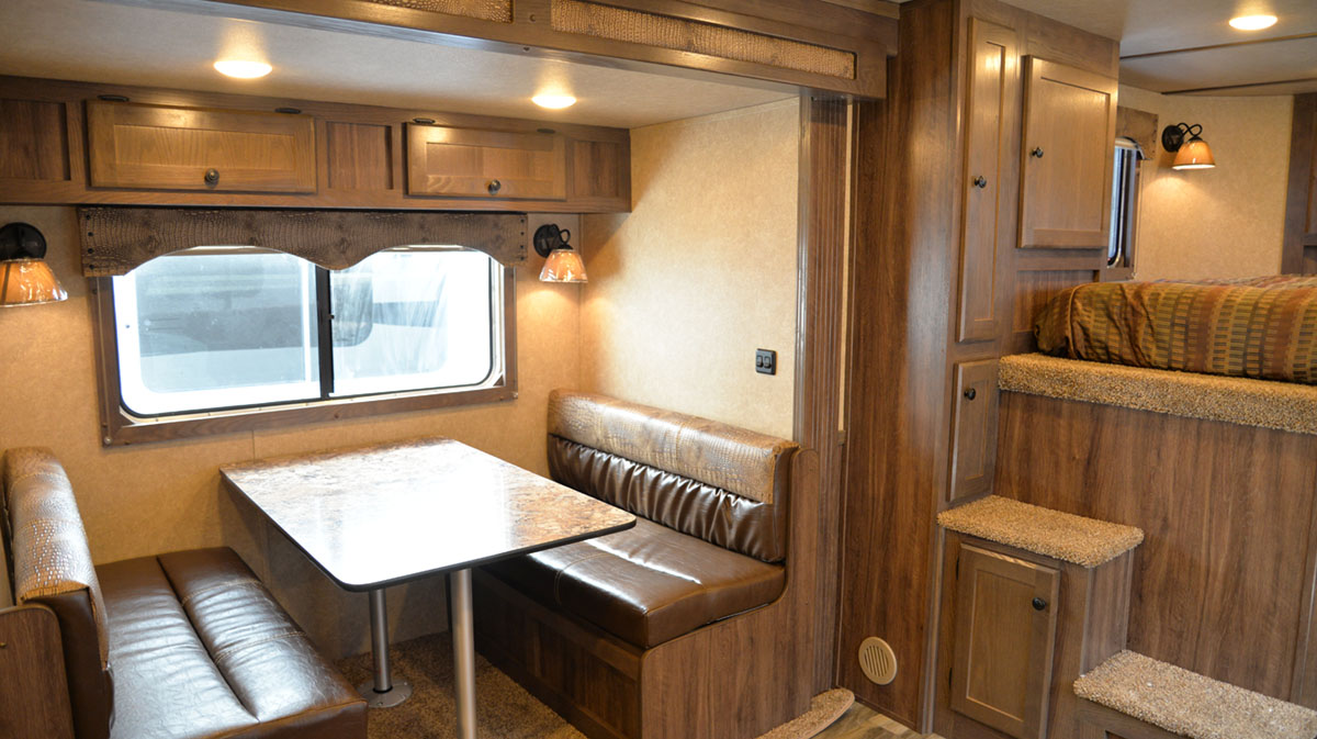 Dinette in Charger C8X15RK   Lakota Trailers