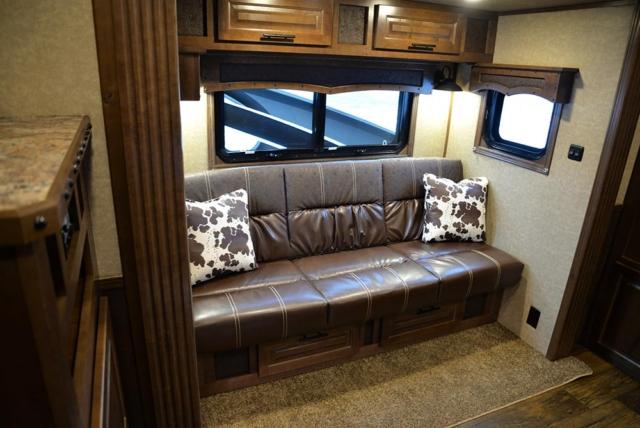 Sofa in a BH8X13RK Bighorn Edition | Lakota Trailers