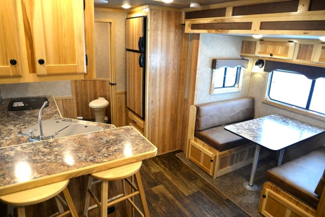 Living Quarters in LE 8X14CE Charger Edition Livestock Trailer | Lakota Trailers