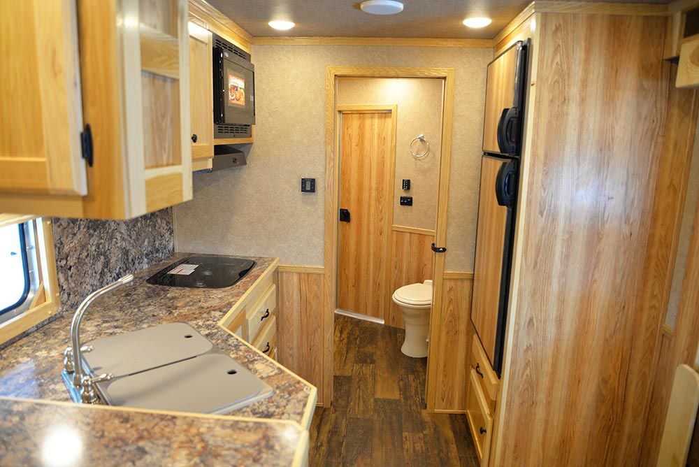 Living Quarters in LE8X14CE Charger Edition Livestock Trailer | Lakota Trailers