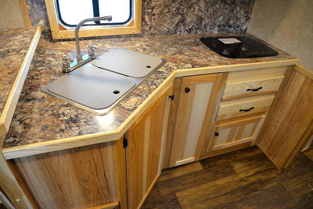 Kitchen Area in LE8X14CE Charger Edition Livestock Trailer | Lakota Trailers