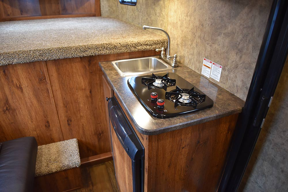Kitchen Area in ACX7 Colt Edition Horse Trailer | Lakota Trailers