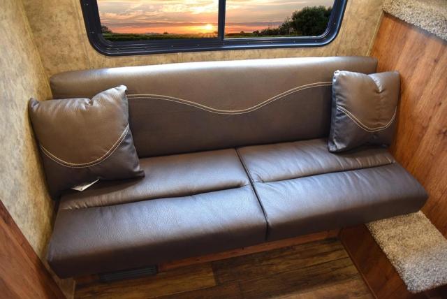 Sofa in ACX7 Colt Edition Horse Trailer   Lakota Trailers