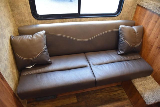 Sofa in ACX7 Colt Edition Horse Trailer | Lakota Trailers