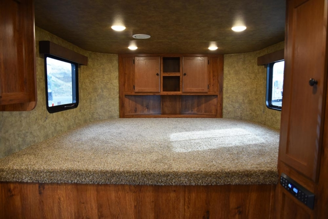 Bed in Gooseneck in AC8X9 Colt Edition Horse Trailer | Lakota Trailers
