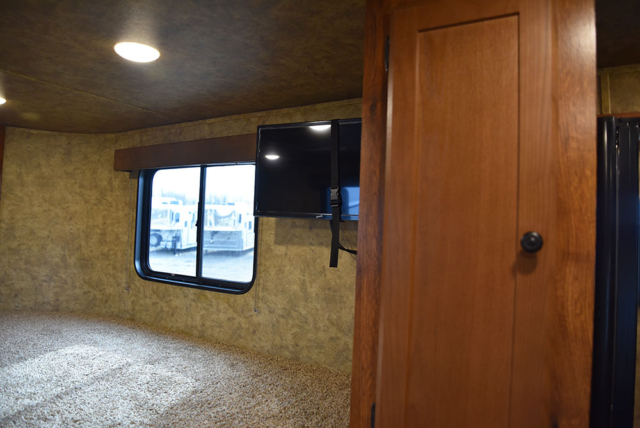 TV in Gooseneck in AC8X9 Colt Edition Horse Trailer | Lakota Trailers