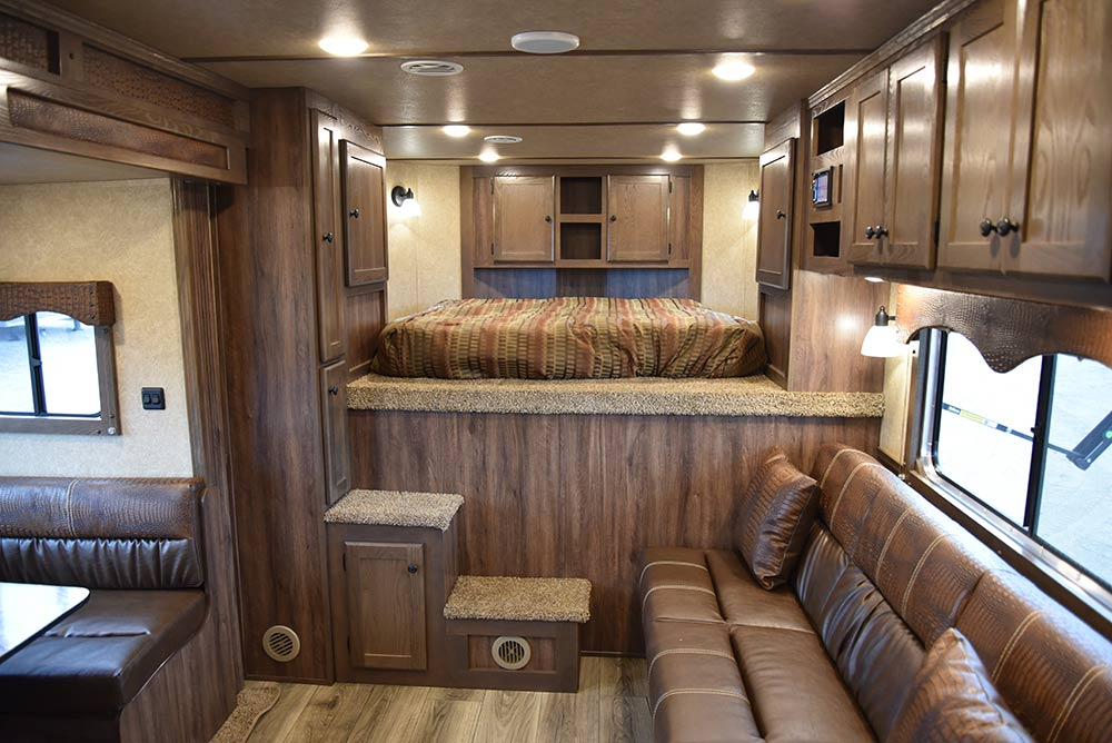 Living Quarters in LE8X15RKB Charger Edition Livestock Trailer | Lakota Trailers