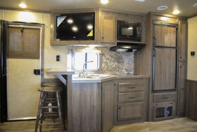 Kitchen in Charger C8X17SRB Horse Trailer | Lakota Trailers