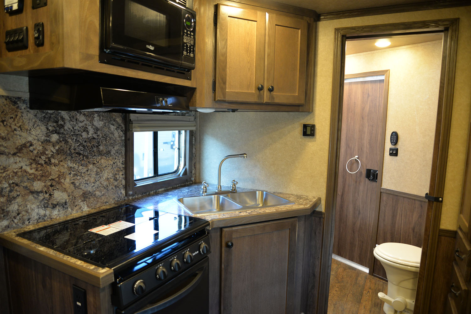 Kitchen in a LE8X11 Livestock Charger Edition | Lakota Trailers