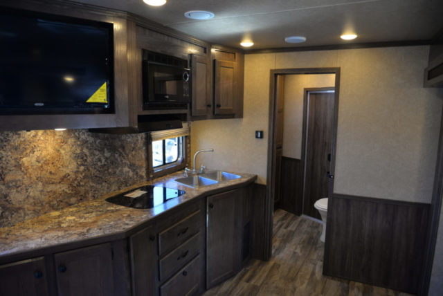 Kitchen in Charger C8X15SOR9S Horse Trailer | Lakota Trailers