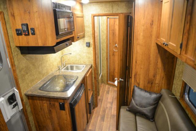 Living space in a Colt AC39 | Lakota Trailers