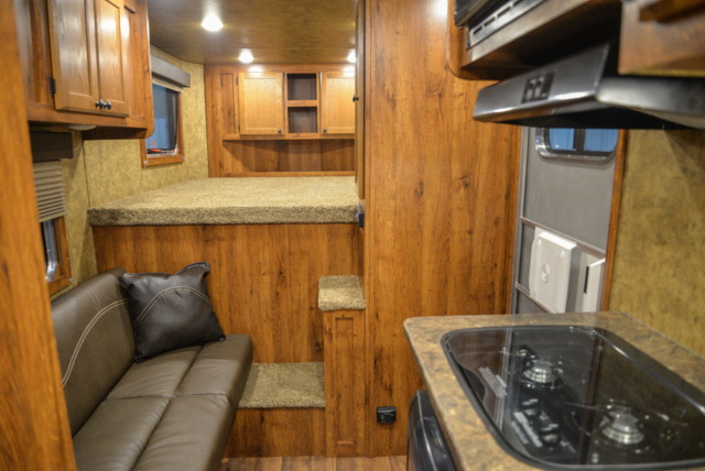 Living space in a Colt AC39 | Lakota Trailers