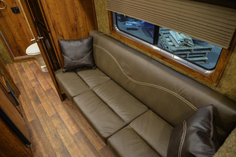 Sofa in a Colt AC39 | Lakota Trailers