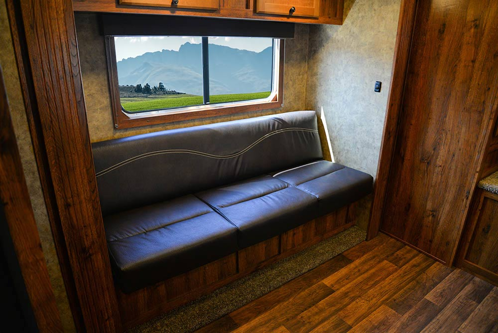 Sofa in AC8X13SO Colt Edition Horse Trailer   Lakota Trailers