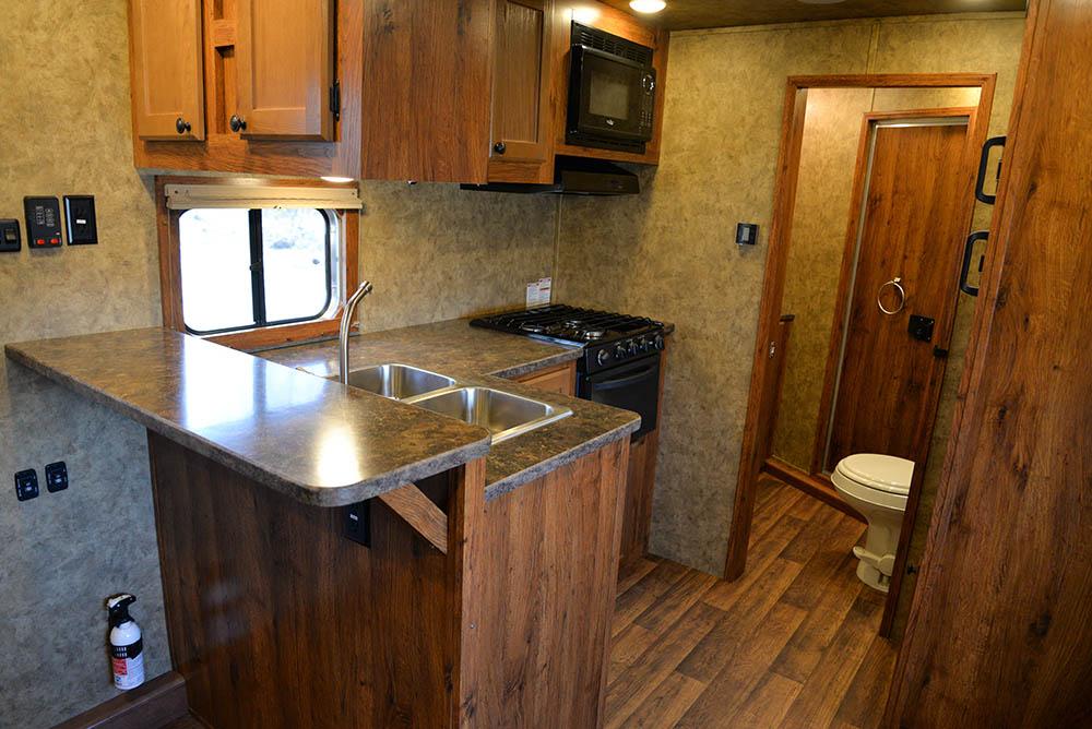 Kitchen in a Colt AC8X13SO   Lakota Trailers