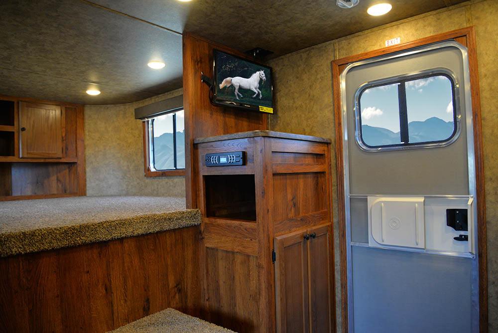 TV in AC8X13SO Colt Edition Horse Trailer   Lakota Trailers