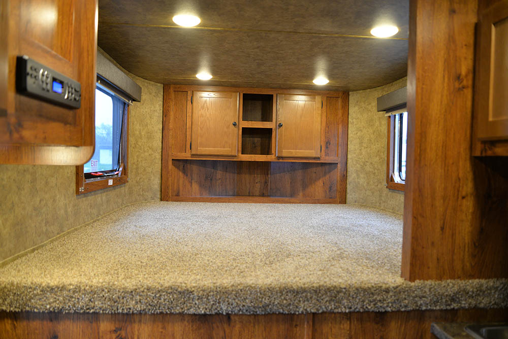 Bedroom in a Colt ACX7 | Lakota Trailers