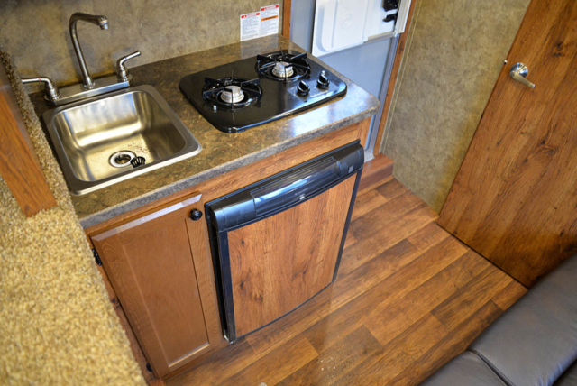 Kitchen in a Colt ACX7 | Lakota Trailers