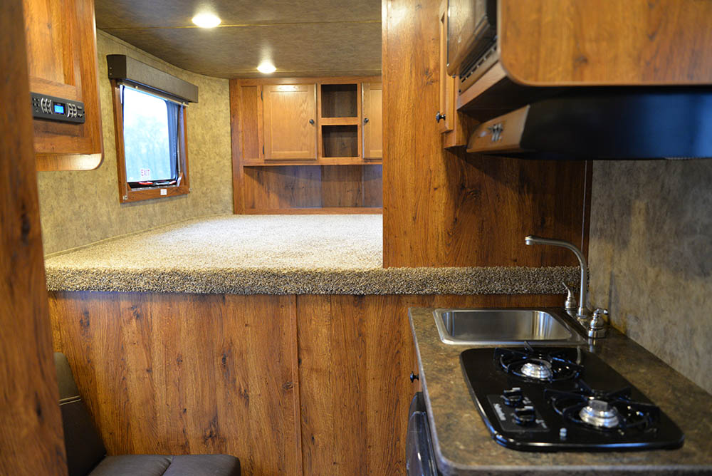Living space in a Colt ACX7 | Lakota Trailers