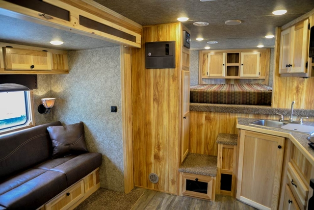 Living Quarters in LE8X11 Charger Edition Livestock Trailer | Lakota Trailers