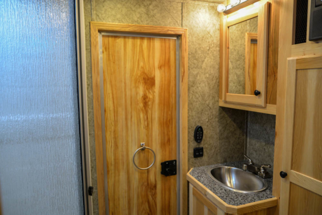 Bathroom in Charger LEX12 Livestock Trailer | Lakota Trailers