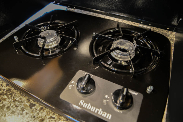 Stove in LEX12 Charger Edition Livestock Trailer | Lakota Trailers