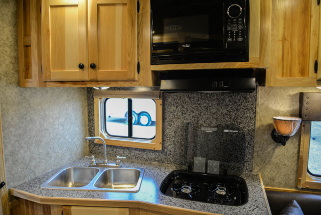 Kitchen in a Charger C8X13.6 | Lakota Trailers