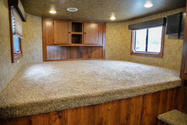 Bedroom in a Colt AC839 | Lakota Trailers