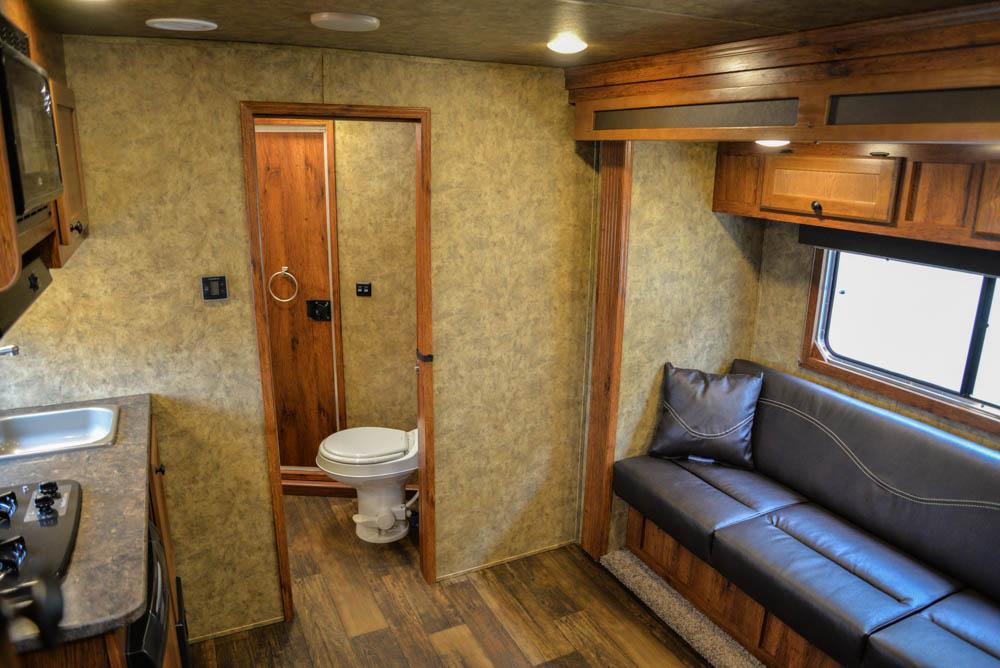 Living space in a Colt AC839 | Lakota Trailers