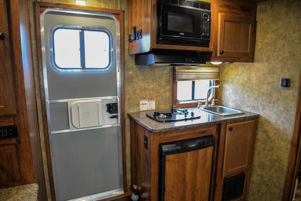 Kitchen in a Colt AC839 | Lakota Trailers