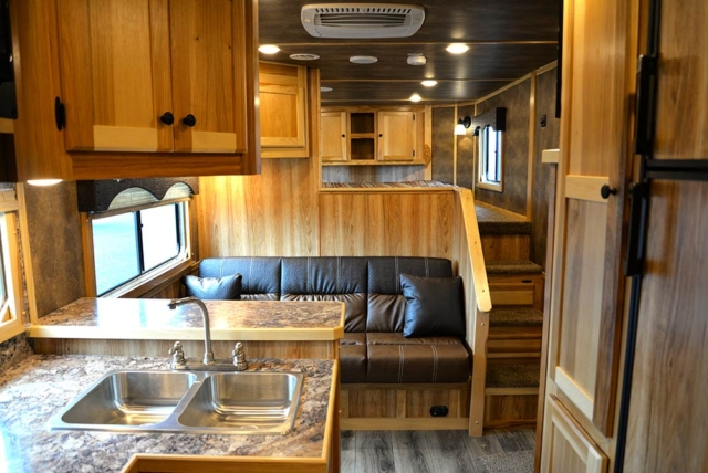 Living Quarters in C8X13SRB Charger Edition Horse Trailer | Lakota Trailers