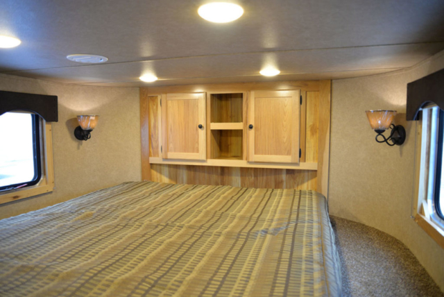 Bedroom in Charger LE8X14CE Livestock Trailer | Lakota Trailers