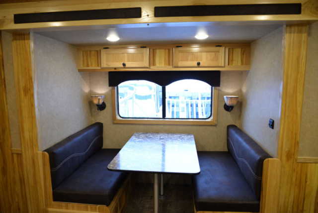 Dinette in Charger LE8X14CE Livestock Trailer | Lakota Trailers