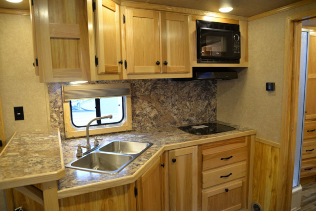 Kitchen in LE8X14CE Charger Livestock   Lakota Trailers