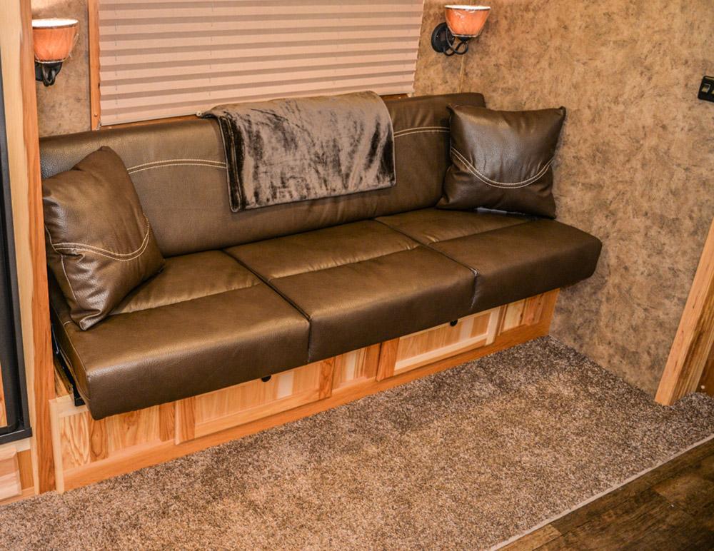 Sofa in a Charger C8X13RK   Lakota Trailers