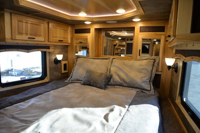 Bedroom in BLE8X18CE Bighorn Livestock | Lakota Trailers
