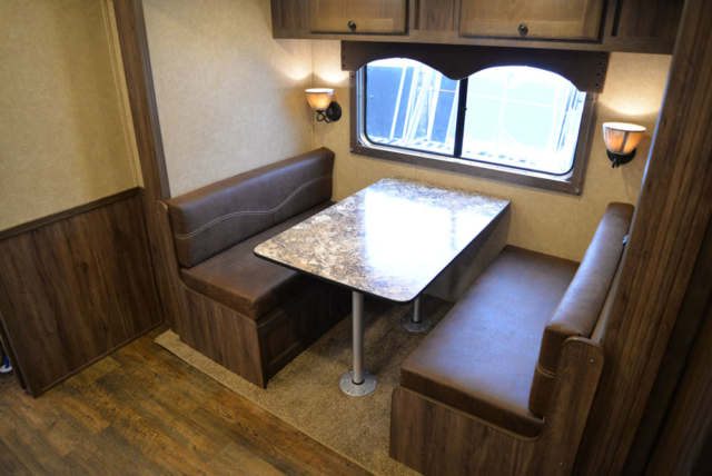 Dinette in Charger LE8X11RK | Lakota Trailers