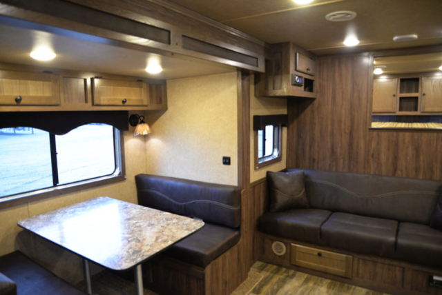 Dinette and Sofa in Toy Hauler CTH81215SR | Lakota Trailers