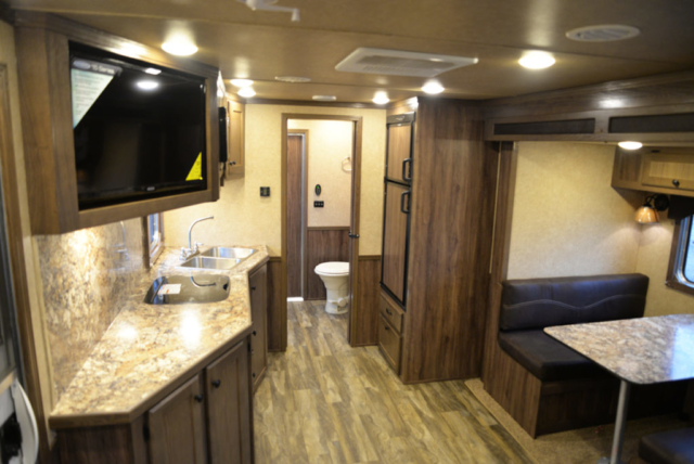 Living space in Toy Hauler CTH81215SR | Lakota Trailers