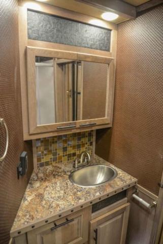 Bathroom Sink in BH8X18MB Bighorn Edition Horse Trailer | Lakota Trailers
