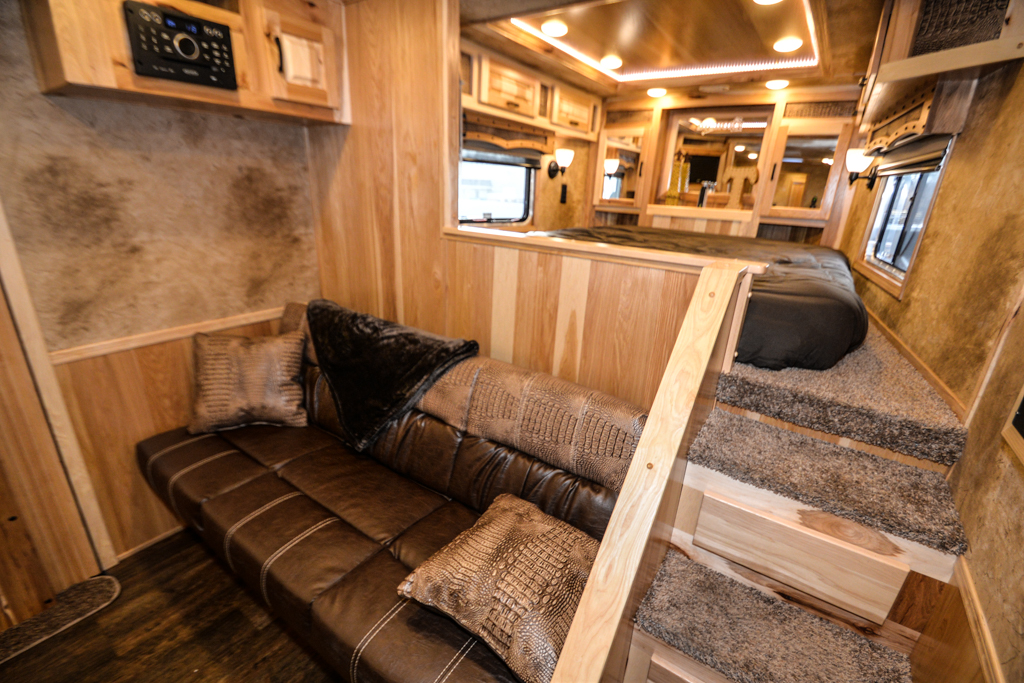 Bedroom in Bighorn BLE8X16SR Livestock Trailer | Lakota Trailers