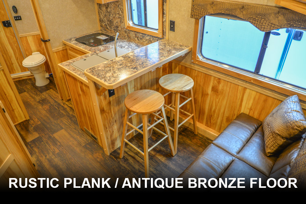 Rustic Plank / Antique Bronze Floor | Charger Floor Options