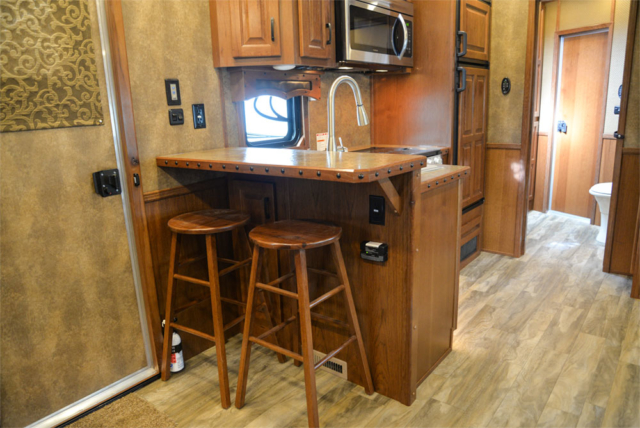 Bar in a BLE8X15CE Bighorn Edition Livestock Trailer| Lakota Trailers
