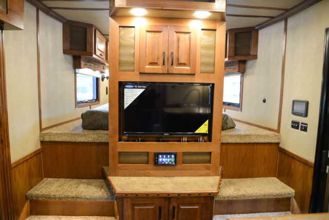 Entertainment System  in a Bighorn Edition BH8X14CE (Handwiped) | Lakota Trailers