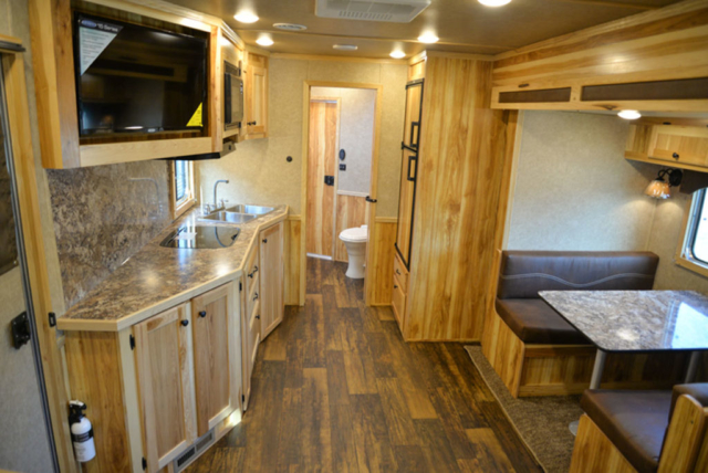 Living Quarters in a LE8X15 - Charger Livestock Edition Trailer  Lakota Trailers