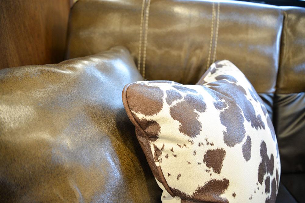 Upholstery in a Bighorn Edition BH8X14CE (Handwiped)   Lakota Trailers